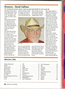 David Callister review Cross Country magazine