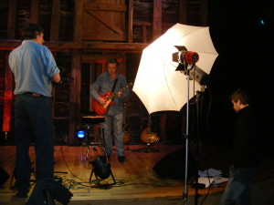Kenny filming Les & Mary 3