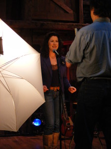 Zoe filming Les & Mary