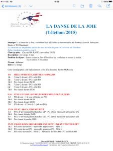 Line dance pour La danse de la Joie