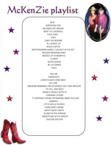 McKenZIe Playlist 15 Septembre